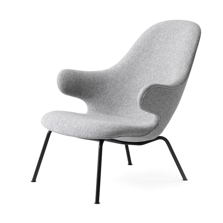 Catch JH14 Lounge-Chair von &tradition in schwarz / Hallingdal 65 grau (130)