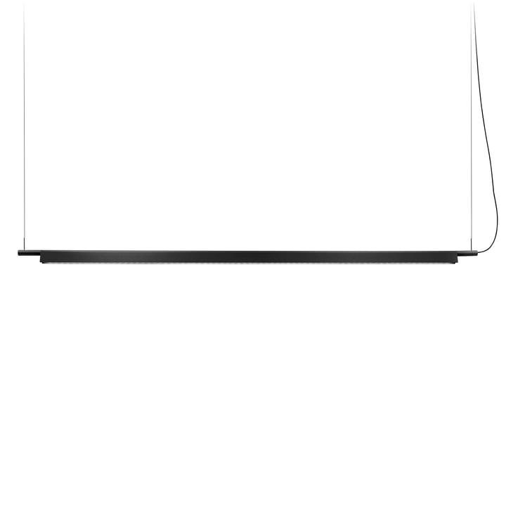 D81BW Compendium LED Pendelleuchte von Luceplan - schwarz inkl. Baldachin, weiß