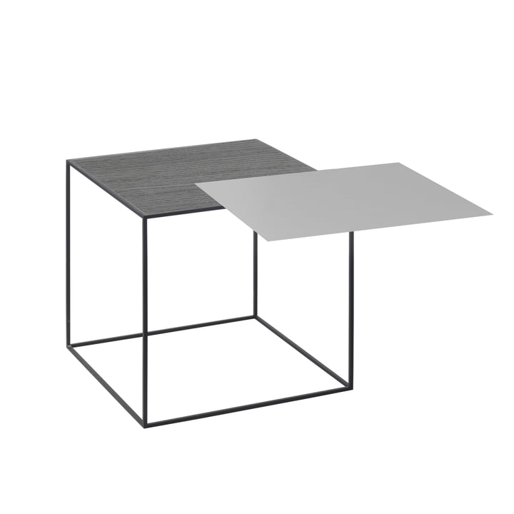 Twin 35 Beistelltisch schwarzer Rahmen von by Lassen in Esche schwarz gebeizt / cool grey