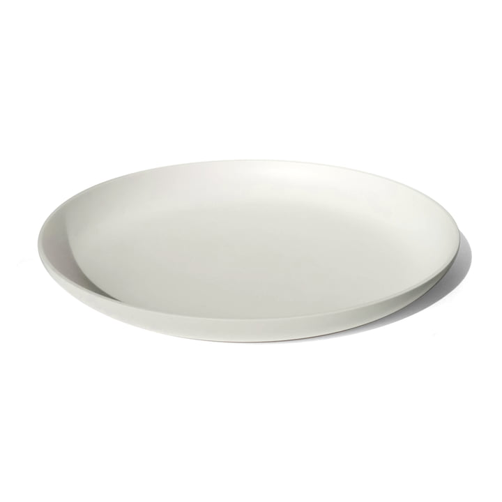 weißes Tablett aus hochwertigem Corian mit 40 cm Durchmesser