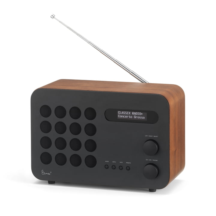 Eames Radio von Vitra in Walnuss / schwarz (Limited Edition)