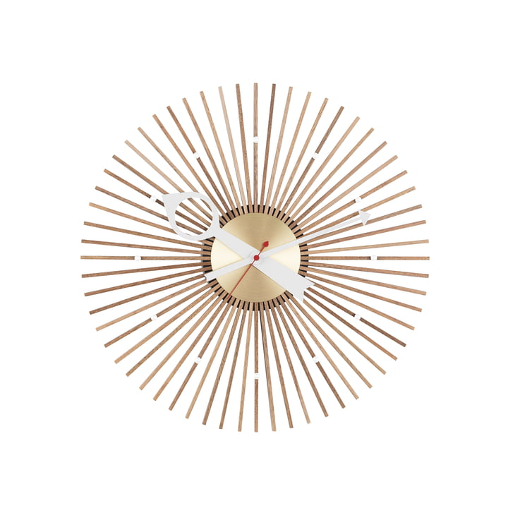 Popsicle Clock von Vitra in Nussbaum