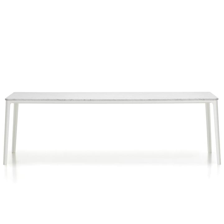 Plate Dining Table von Vitra - 220 x 100 cm, Tischplatte Carrara Marmor / Untergestell weiß