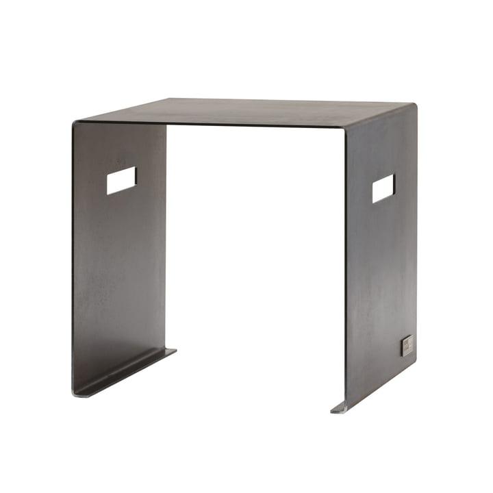 Sitzhocker Cuber von artepuro aus geöltem Stahl