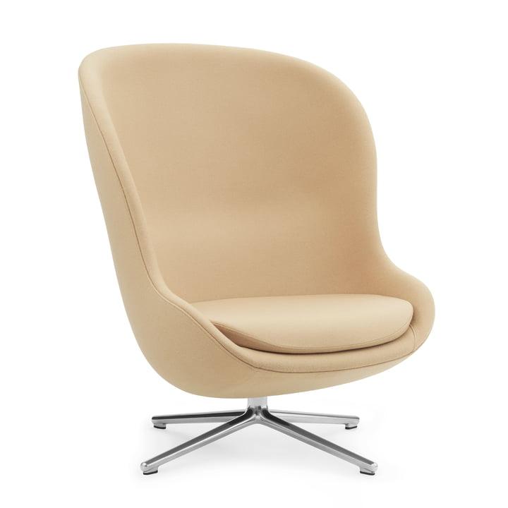 Hyg Lounge Chair Swivel High von Normann Copenhagen - Aluminium / beige (Synergy LDS18)