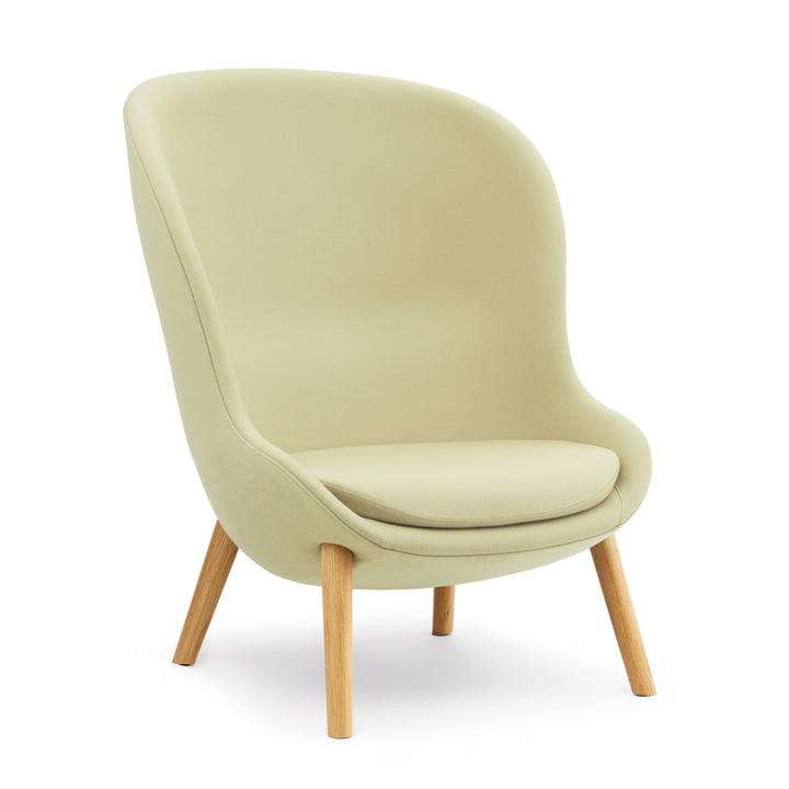 Hyg Lounge Chair High von Normann Copenhagen - Eiche / grün (Synergy LDS23)