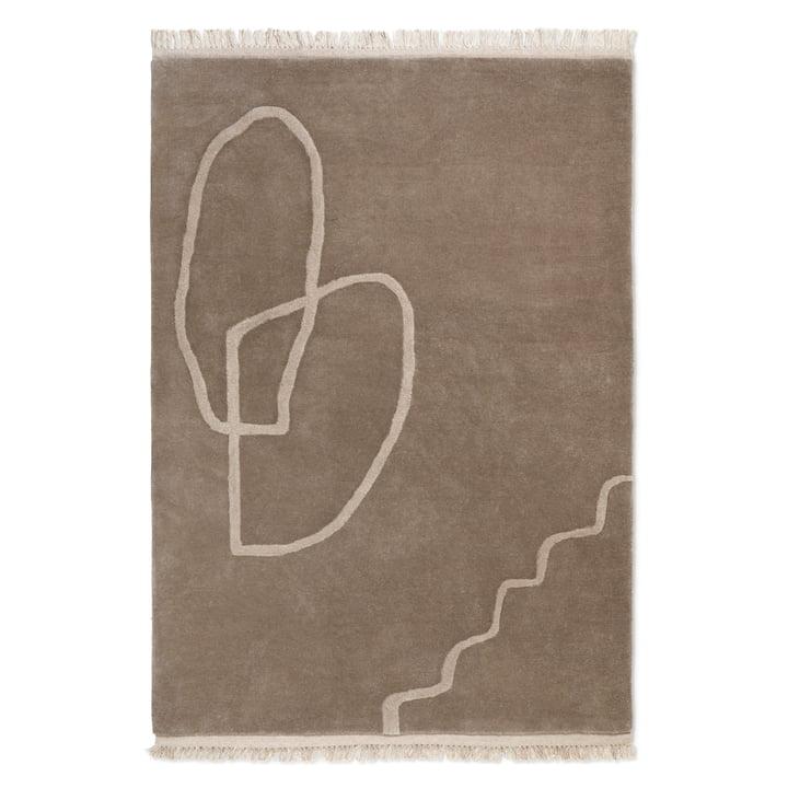 Desert Tufted Teppich von ferm Living - 200 x 300 cm, sand