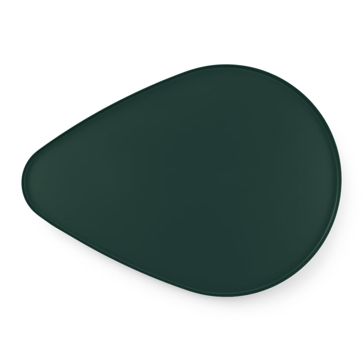 Peacock Tablett large von Tivoli in dunkelgrün