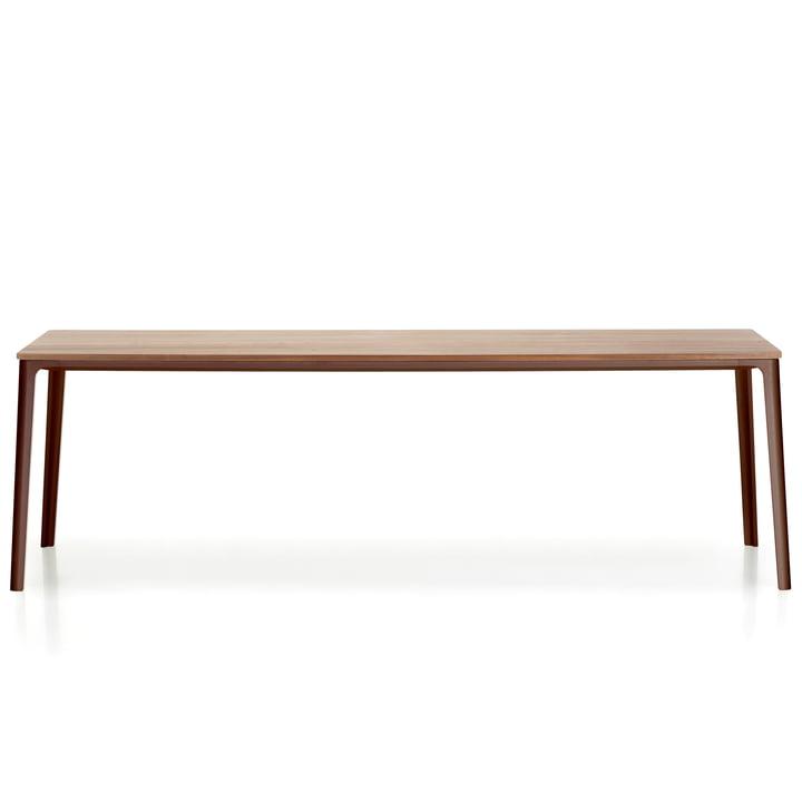 Plate Dining Table 220 x 100 cm von Vitra mit Tischplatte Eiche natur / Untergestell chocolate