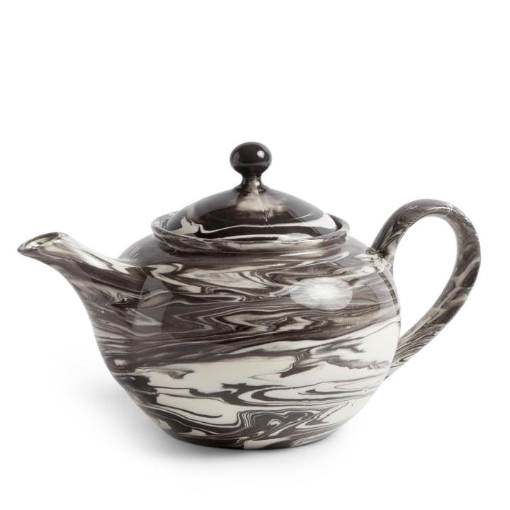 Marbled Teapot 0,8 l von Hay in schwarz