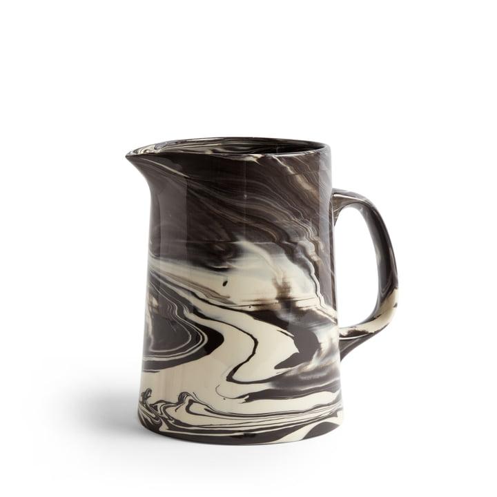 Marbled Jug Ø 16 x H 21 cm von Hay in schwarz