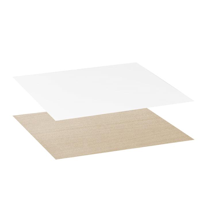 Tischplatte für Twin Beistelltisch von by Lassen in Eiche / weiß