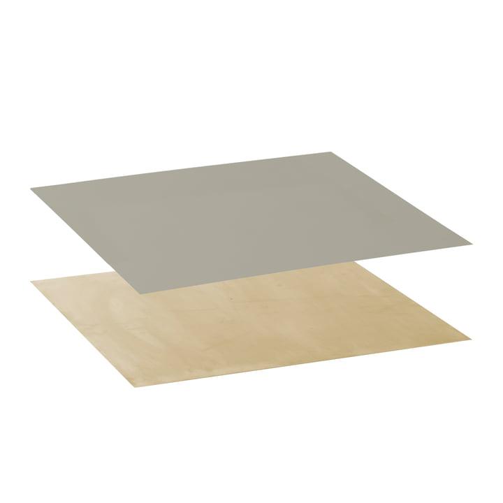 Tischplatte für Twin Beistelltisch von by Lassen in Messing / misty green
