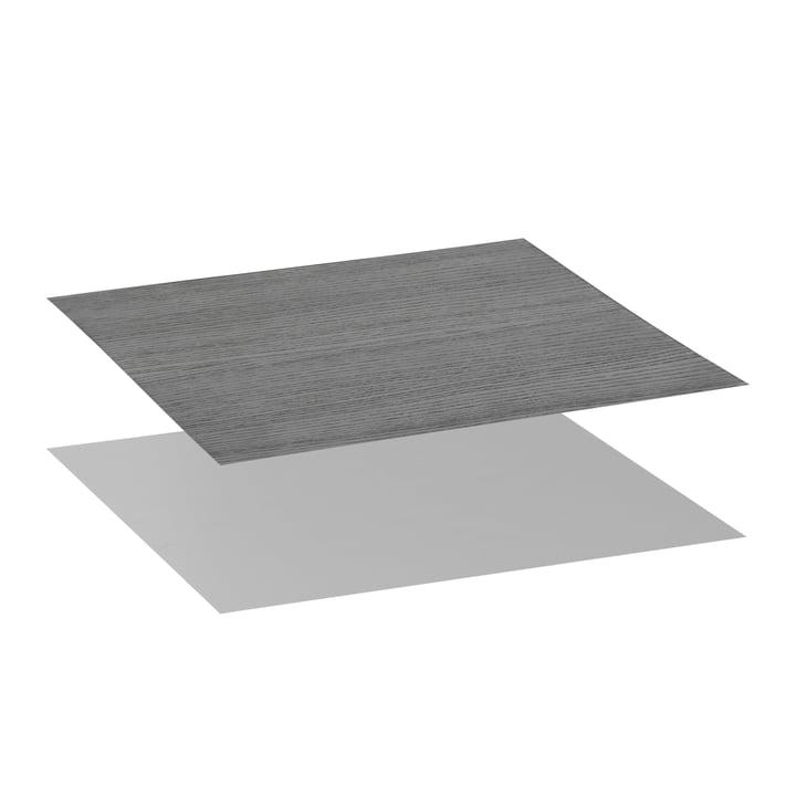Tischplatte für Twin Beistelltisch von by Lassen in Esche schwarz gebeizt / cool grey