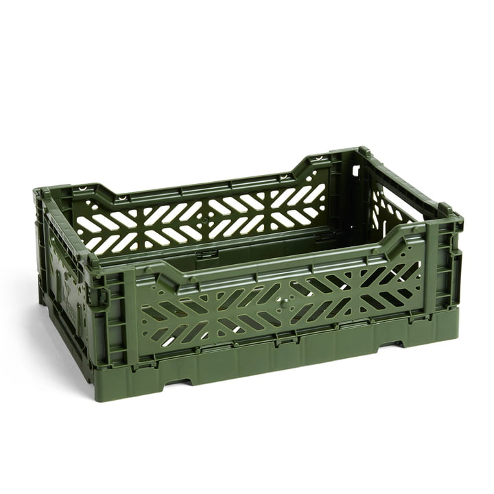 Colour Crate Korb S, 26,5 x 17 cm von Hay in khaki