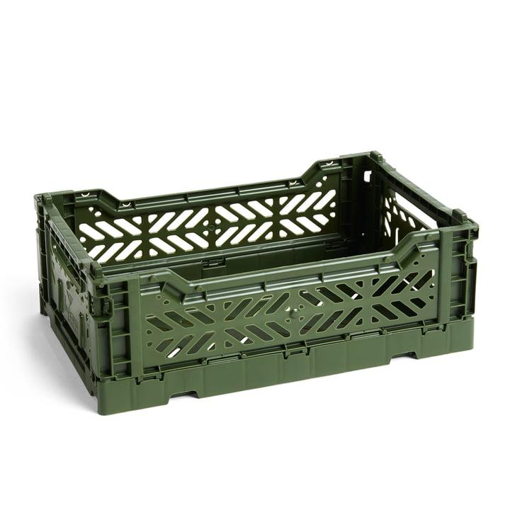 Colour Crate Korb S, 26,5 x 17 cm von Hay in khaki