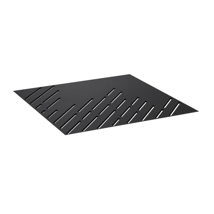 Tischplatte für Twin 42 Beistelltisch von by Lassen in perforiert schwarz
