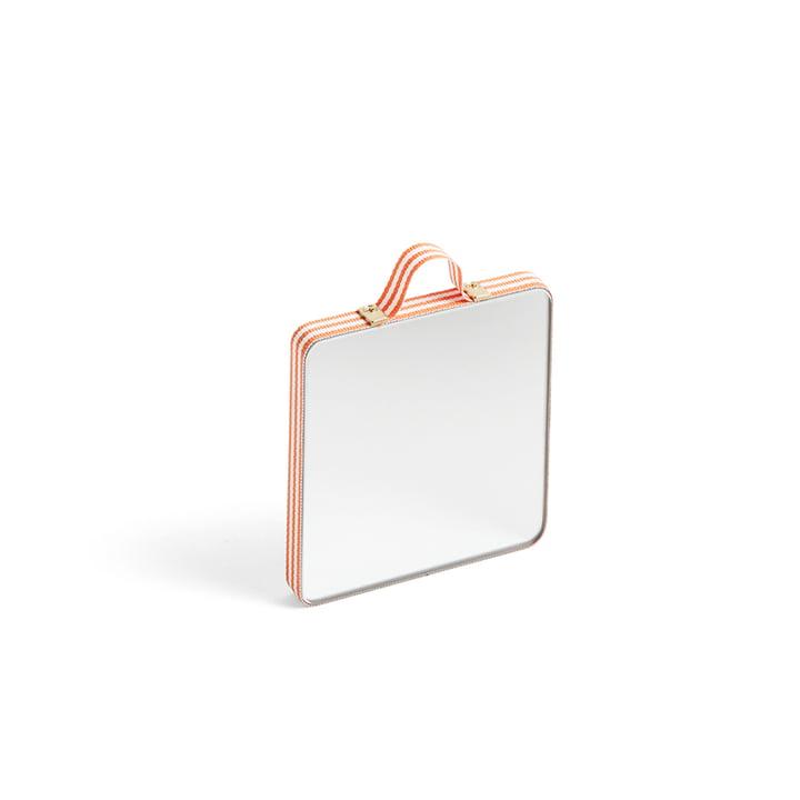 Ruban Spiegel Square XS von Hay in orange stripe
