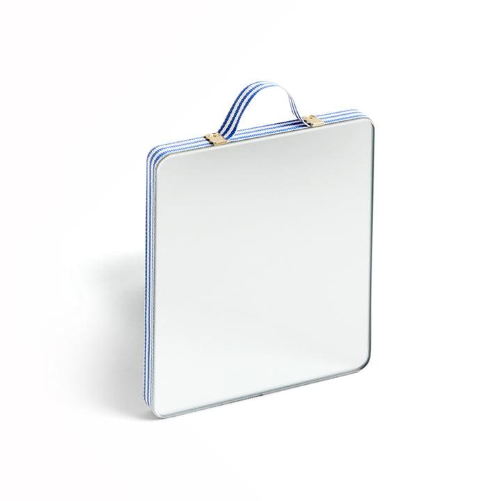 Ruban Spiegel Rechteckig S von Hay in blue stripe