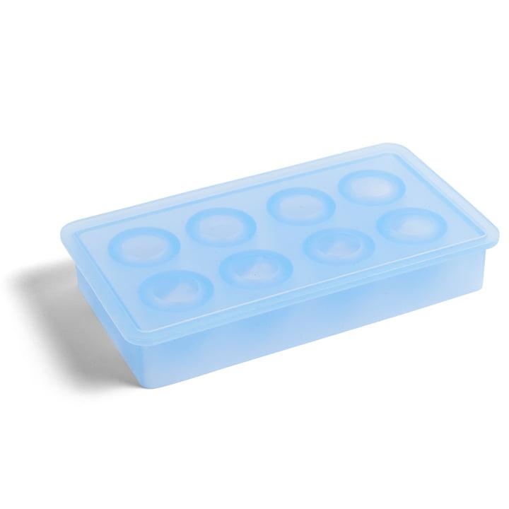 Silikon Eiswürfelbereiter rund von Hay in hellblau