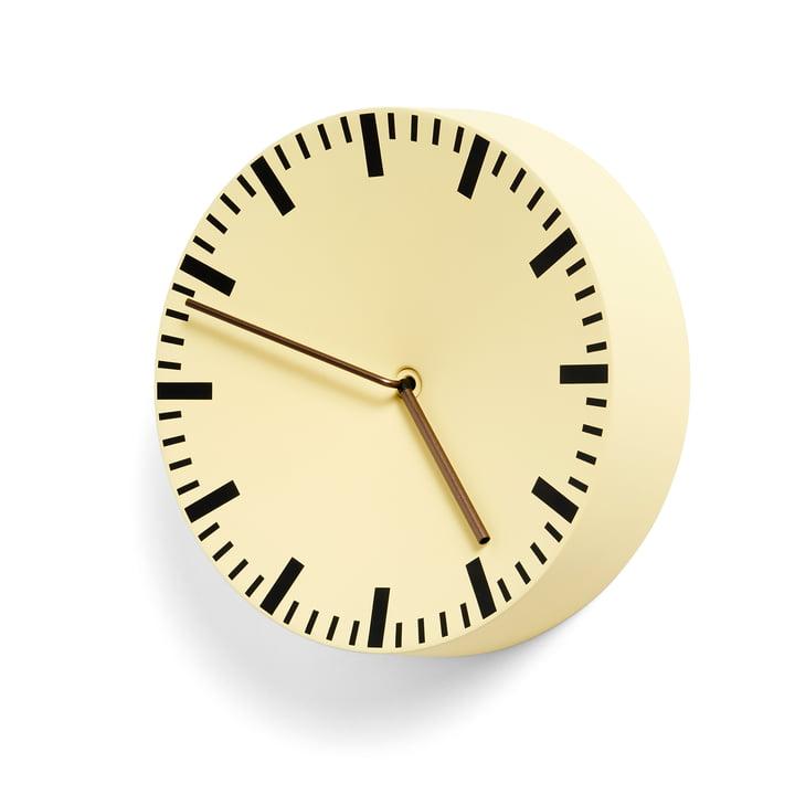 Analog Uhr von Hay in hellgelb