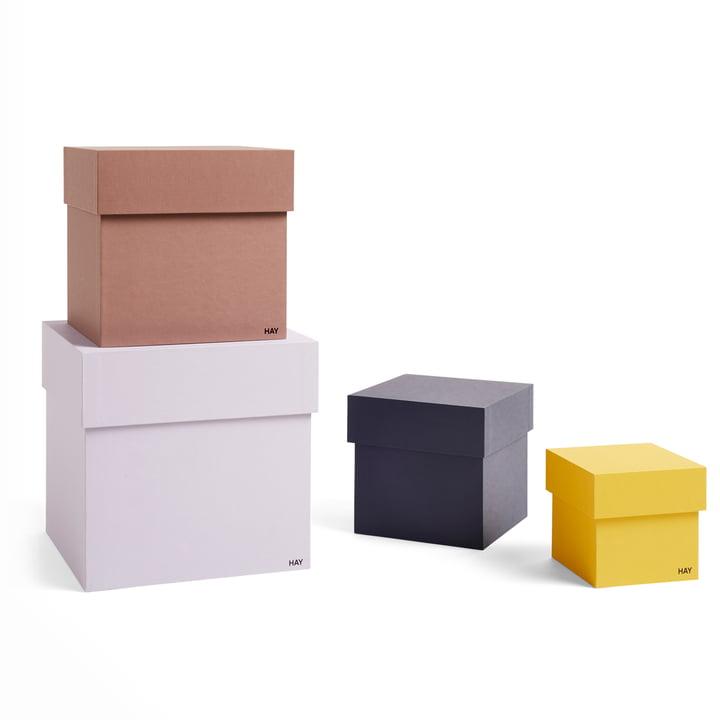Box Box Pappschachteln von Hay in lavender (4er-Set)