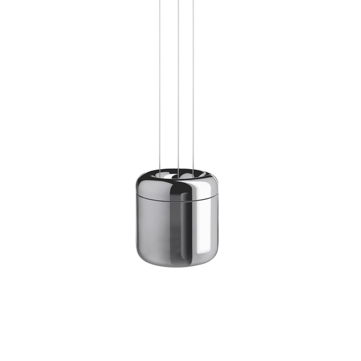 Cavity LED-Pendelleuchte S von serien.lighting in Aluminiumglanz finish