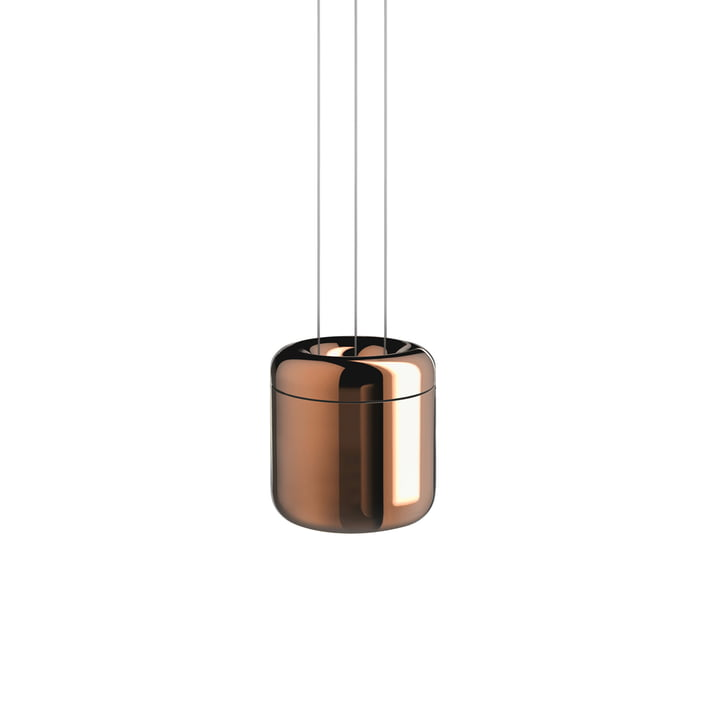 Cavity LED-Pendelleuchte S von serien.lighting in Bronze finish