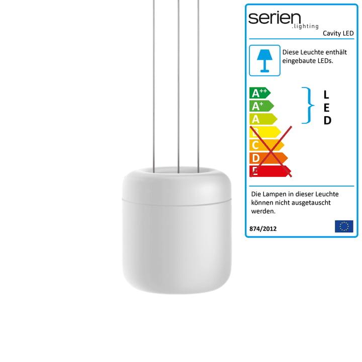 Cavity LED-Pendelleuchte L von serien.lighting in weiß