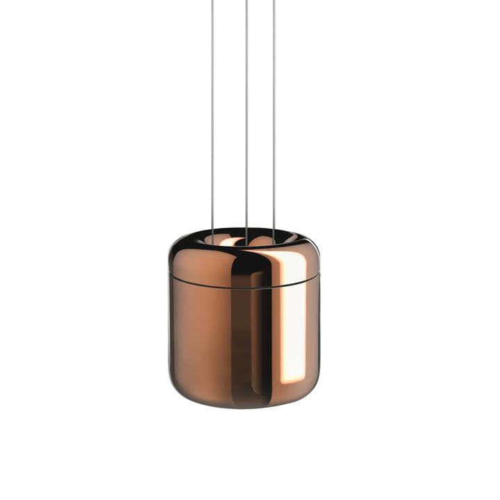 Cavity LED-Pendelleuchte L von serien.lighting in Bronze finish