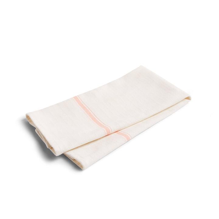 Simple Stripe Geschirrtuch (2er-Set) von Hay in light pink
