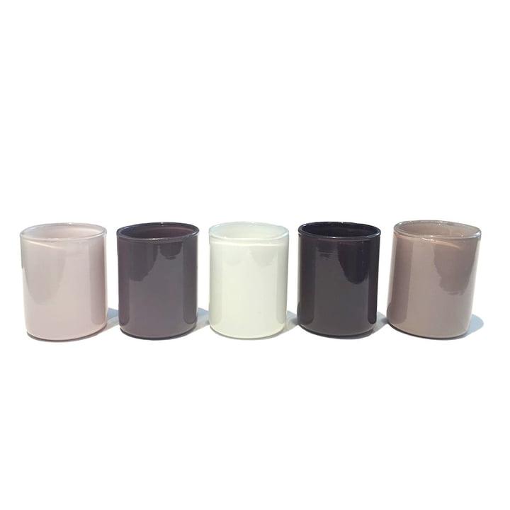 Spot Votive Teelichthalter im 5er-Set von Hay in grau