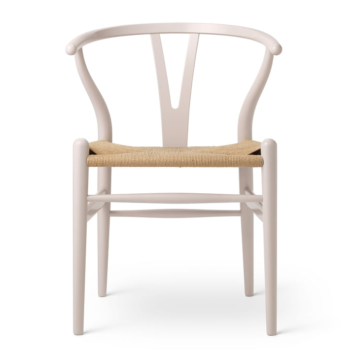 CH24 Wishbone Chair von Carl Hansen in Buche Rosy Blush / Naturgeflecht (Birthday Edition)