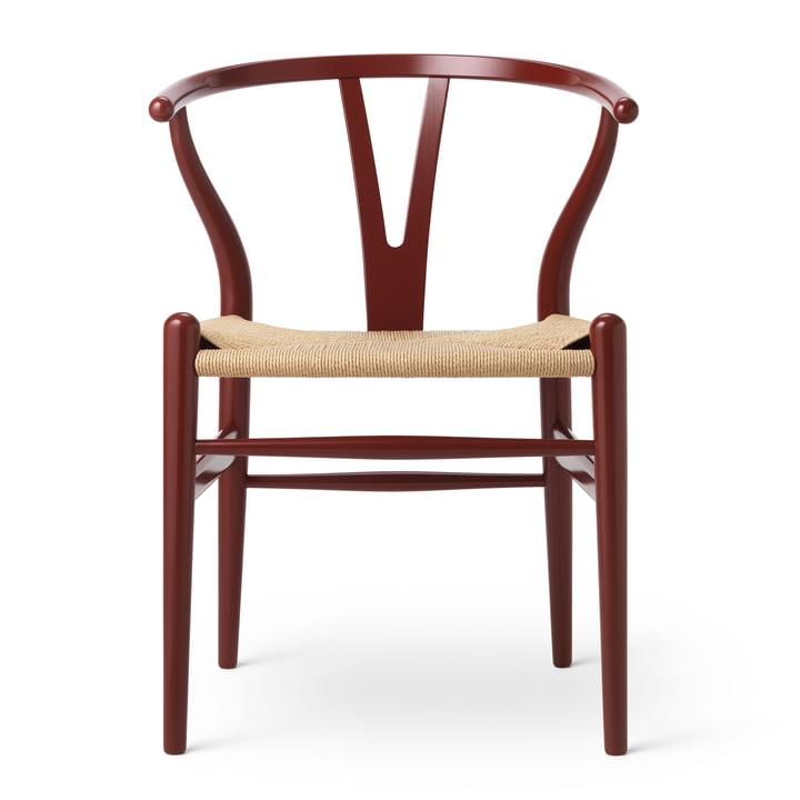 CH24 Wishbone Chair von Carl Hansen in Buche Russet Red / Naturgeflecht (Birthday Edition)