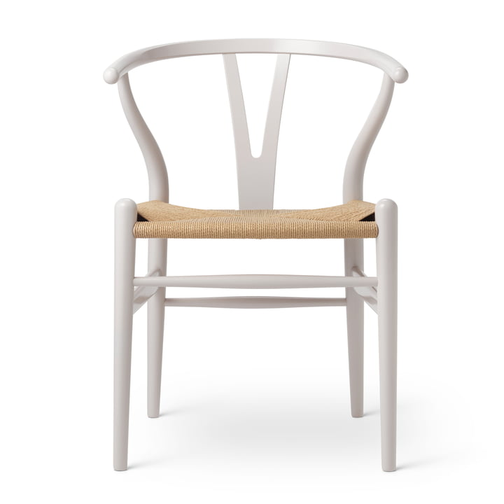 CH24 Wishbone Chair von Carl Hansen in Buche Oyster Grey / Naturgeflecht (Birthday Edition)