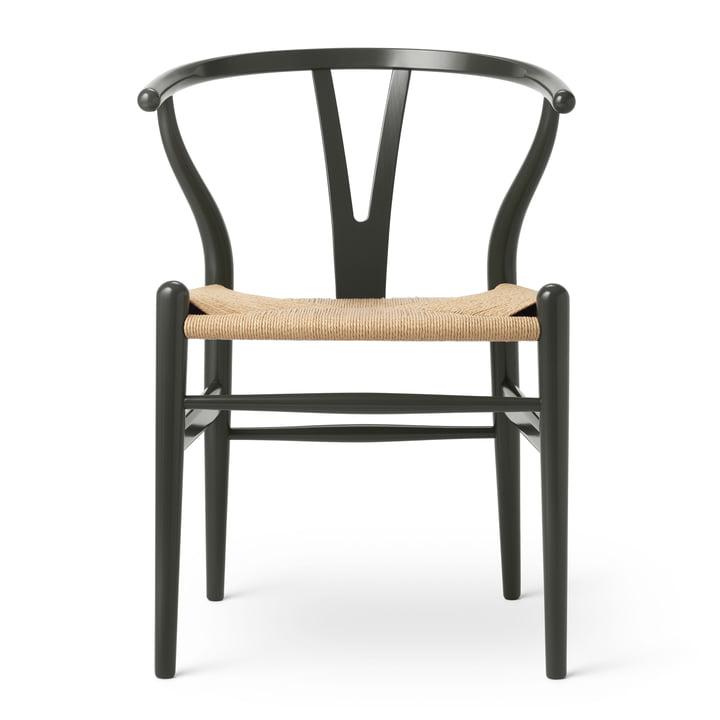 CH24 Wishbone Chair von Carl Hansen in Buche Deep Olive / Naturgeflecht (Birthday Edition)