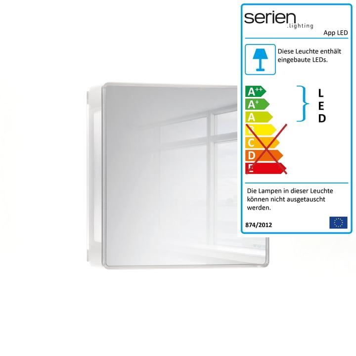 App LED-Wandleuchte von serien.lighting in Spiegelglas