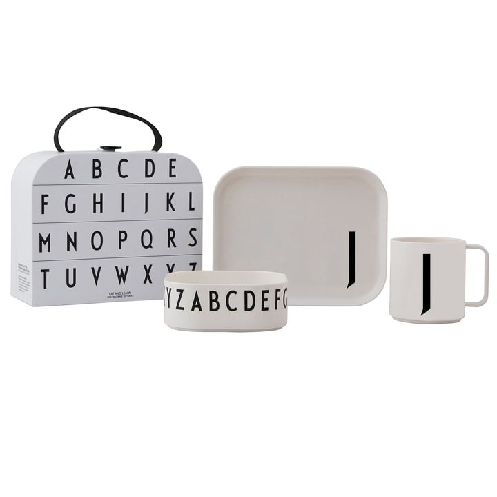 Kindergeschirr-Set inkl. Koffer J von Design Letters