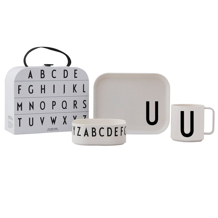 Kindergeschirr-Set inkl. Koffer U von Design Letters