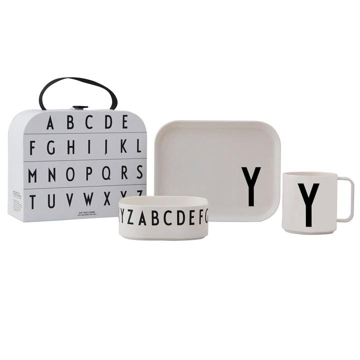 Kindergeschirr-Set inkl. Koffer Y von Design Letters