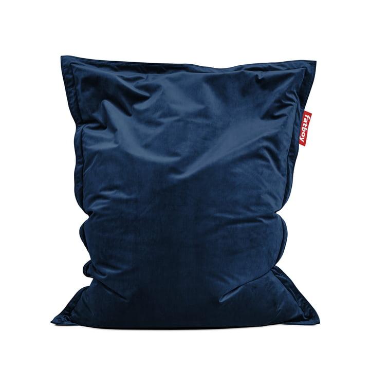 Sitzsack Original Slim Velvet von Fatboy in dunkelblau