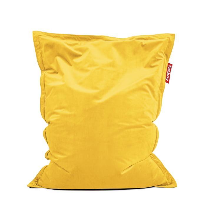 Sitzsack Original Slim Velvet von Fatboy in maisgelb