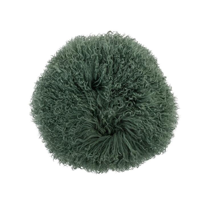 Lammfell-Kissen Ø 35 cm von Bloomingville in grün