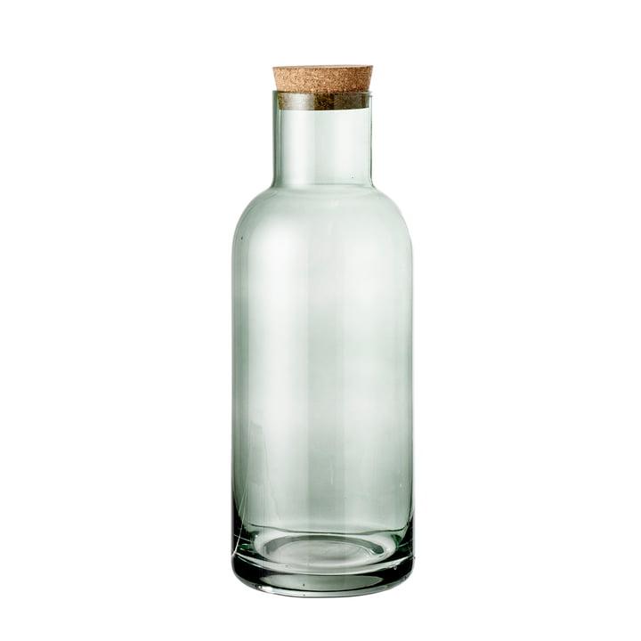 Glasflasche mit Korken Ø 9 x H 25 cm von Bloomingville in grün