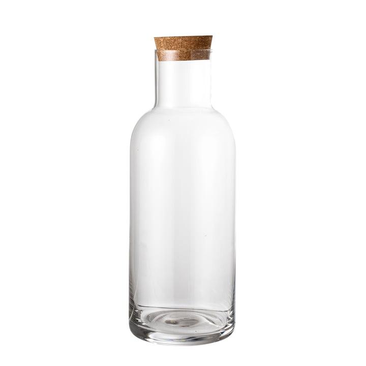 Glasflasche mit Korken Ø 9 x H 25 cm von Bloomingville in klar