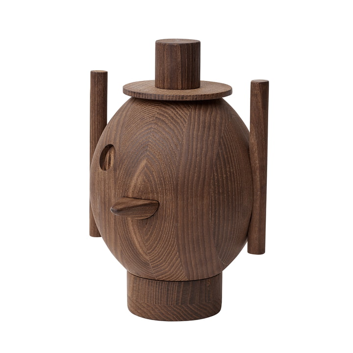 Geo Holzskulptur von Fritz Hansen - Ø 12,9 x H 18,4 cm in Esche dunke