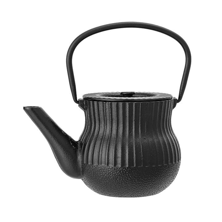 Teekanne von Bloomingville - Ø 13 x H 12 cm in schwarz