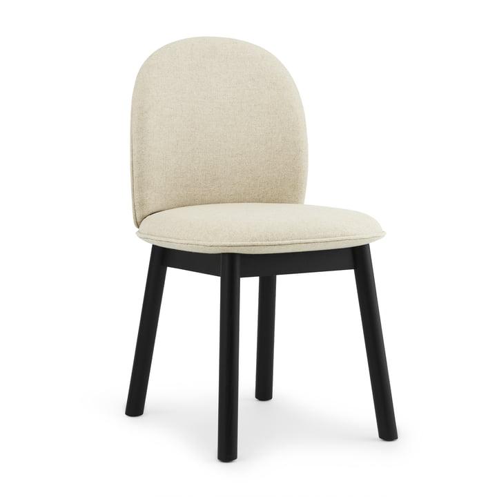 Ace Chair von Normann Copenhagen in Eiche schwarz / beige (Main Line Flax Upminster MLF 20)