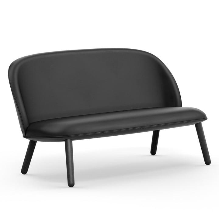 Ace Sofa von Normann Copenhagen in Eiche schwarz / schwarz (Sörensen Leder Ultra 41599)