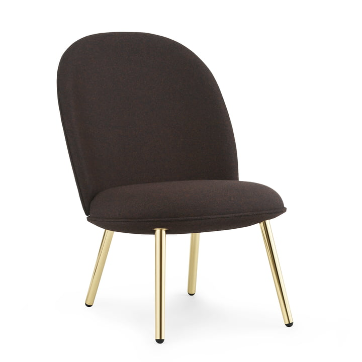 Ace Lounge Chair von Normann Copenhagen in Messing / schwarz (Synergy Co-operate LDS 40)